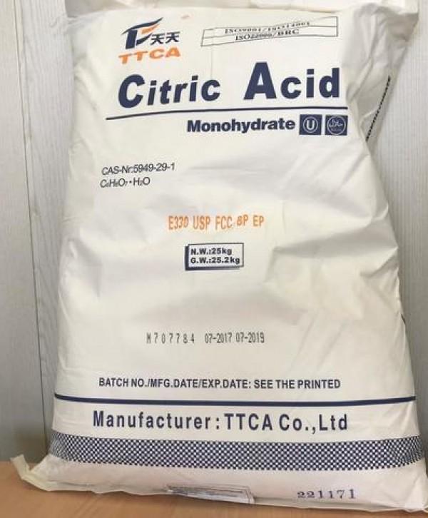 1 Лимонная кислота  (Моногидрат) ТТСА (мешок 25кг)