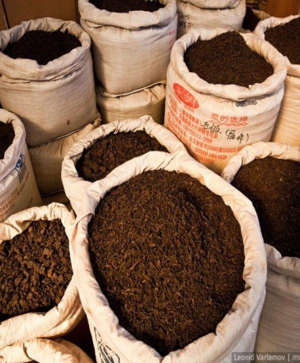 Чай чёрный высший сорт крупный лист в мешках по 28 кг