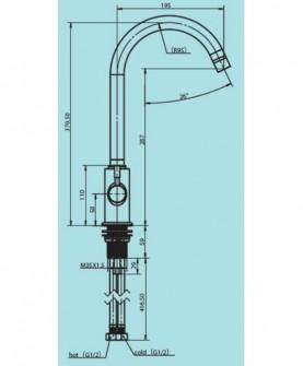 Смеситель кухонный модель С125