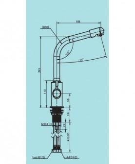 Смеситель кухонный модель С126