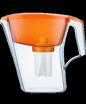 """Водоочиститель  """"Кувшин"""" модель  Аквафор Лайн(оранжевый)"""