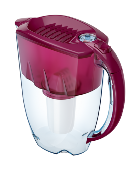 Водоочиститель Кувшин Аквафор Престиж А5 модель Р80А5SM (вишневый)