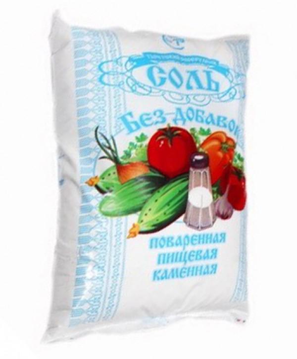 Соль поваренная пищевая в/с помол № 1